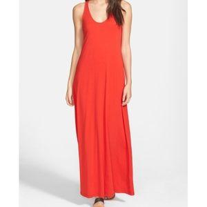 Splendid Tomato Racerback Maxi Dress - M